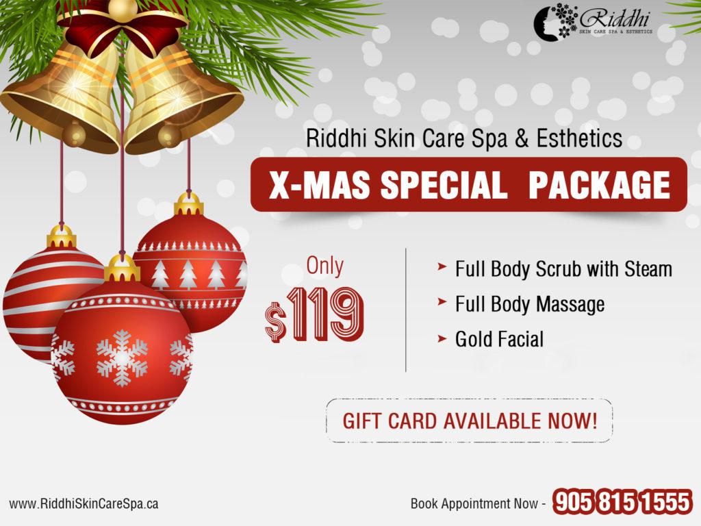 Christmas Special.Christmas Special Spa Deal Riddhi Skin Care Spa Esthetics